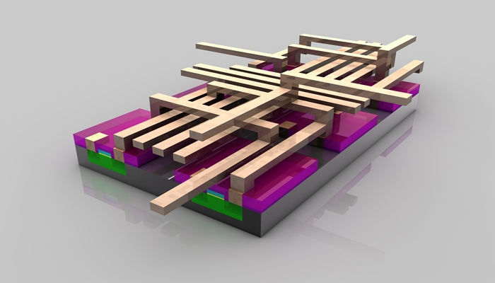 构建晶体管之间连接电路