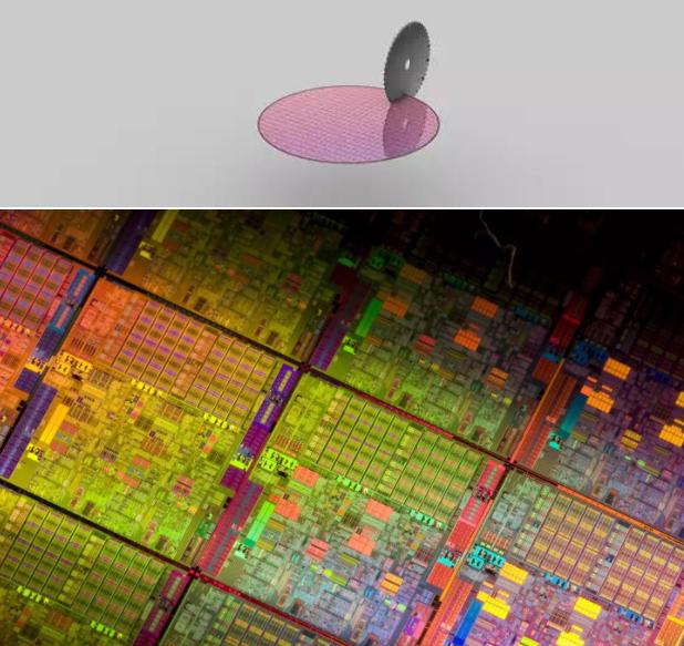 晶圆切片外观检查 - 未裂片的一个个CPU内核